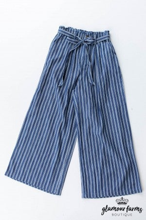 sku12799 | Striped Wide Leg Pants