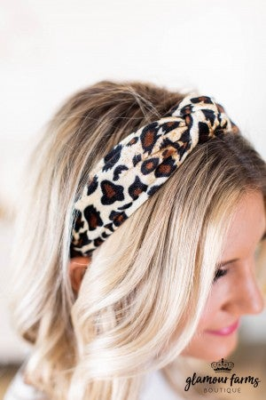 sku9127 | Animal Print Velvet Headband