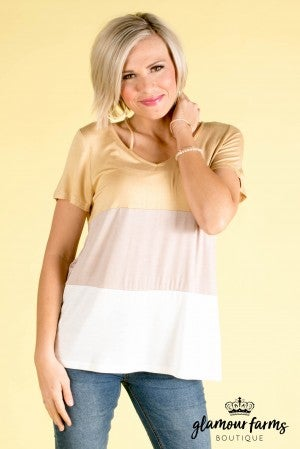 **Daily Deal** Brandie Color Block Top