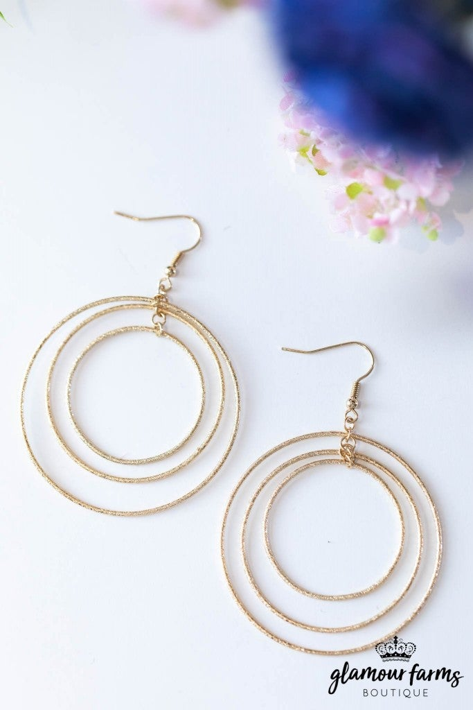 sku7864 | Three Ring Earrings