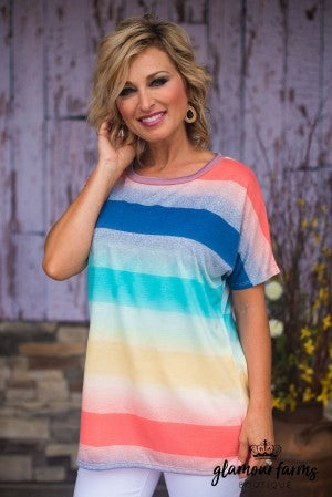 Over The Rainbow Stripe Top