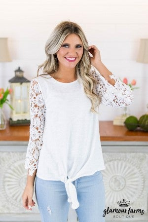 Love Lessons Side Tie Top