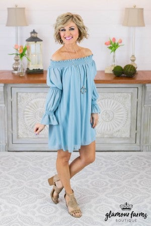 Every Moment Off Shoulder Dress