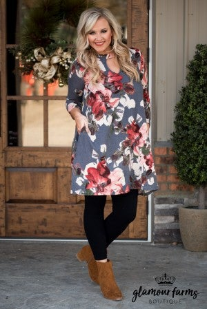 Curvy| Cameron Floral Swing Dress