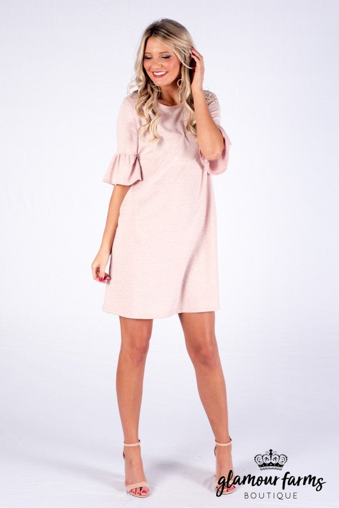 Sincerely Yours Ruffle Sleeve Dress