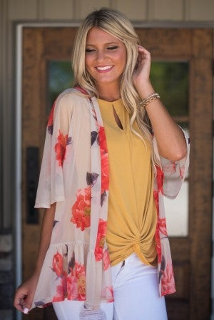 Memories Of Summer Floral Cardigan