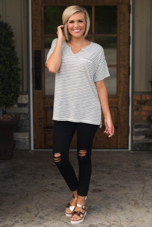 Perfect Timing Stripe Tee