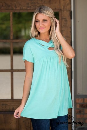 **Daily Deal** Monique Criss-Cross Tunic