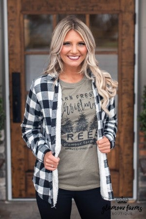 **Daily Deal** Up To Snow Good Lined Flannel Shirt