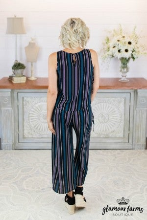sku8673 | **Daily Deal** Stripe Culotte Set