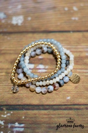 Icon Beaded Stretch Bracelet