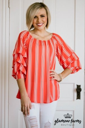 Feel The Breeze Tiered Sleeve Top