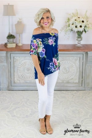 sku8745 | Floral Front Twist Top