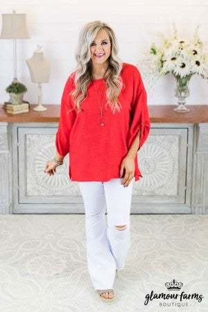 Love Abound Linen Tunic