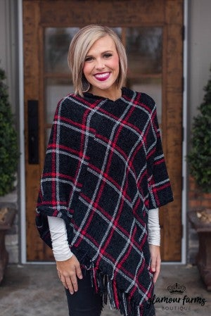 **Daily Deal** Hearth And Home Chenille Poncho