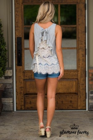 Flash Back Lace Tank
