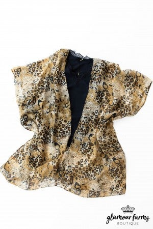 sku12955 | **Daily Deal** Animal Print Kimono