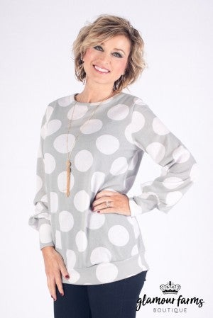 Lia Perfect Fit Dot Sweatshirt