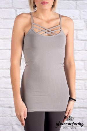 Ahh-mazing Criss Cross Cami Long Shaper