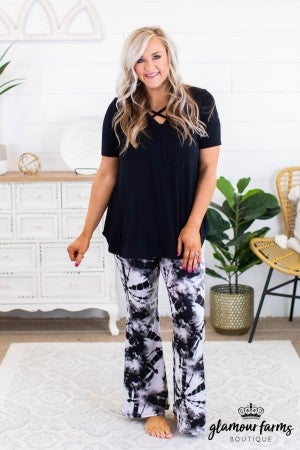 sku11903 | **Daily Deal** Tie Dyed Bell Bottom Leggings