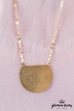 sku7980 | Geometric And Disc Necklace