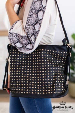 sku12108 | Studded Convertable Handbag