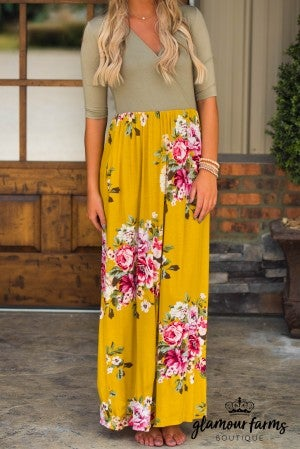 Lost In Time Wrap Maxi Dress