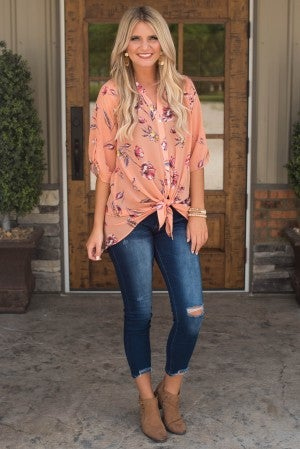 **Daily Deal** Beautiful Destination Floral Tunic