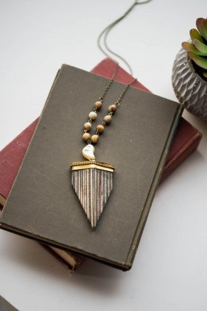Wendy's Wooden Triangle Necklace