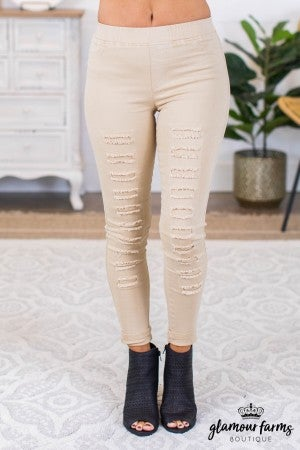 sku9803 | Distressed Jegging
