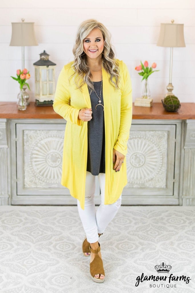 **Daily Deal** Easy Living Drape Cardigan