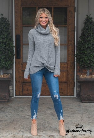Twist Of Fate Turtle Neck Sweater