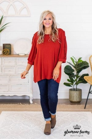 sku9172 | **Daily Deal** Ruffle Sleeve Tunic