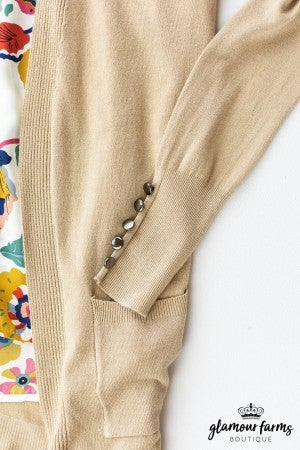 sku12497 | **Daily Deal** Butter Soft Button Detail Cardigan