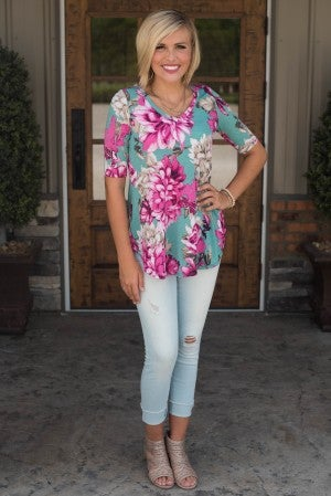 Lost In Love Floral Tunic