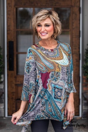 Fall For Paisley Tunic