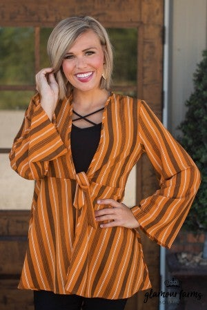 Falling For Stripes Cardigan