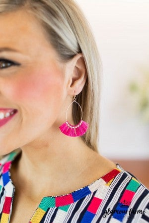 sku8011 | Tassel Oval Earrings