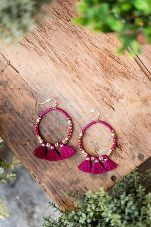 **Daily Deal** Elsa Bead and Tassel Earring