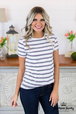 **Daily Deal** Take Me Back Stripe Top