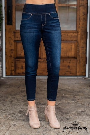 Kayla Pull-On Ankle Jean