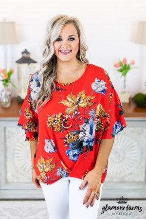 Brighten Your Day Floral Top
