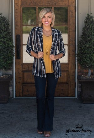 Make Your Way Stripe Blazer