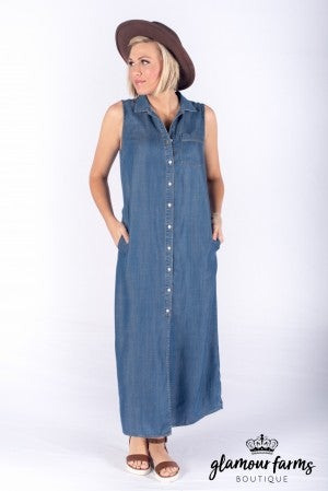 At Your Best Denim Dress