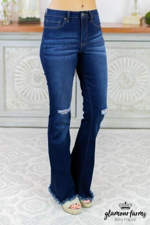 Blair Distressed Flare Jean