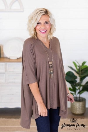 sku9001 | **Daily Deal** V-Neck Poncho Tunic