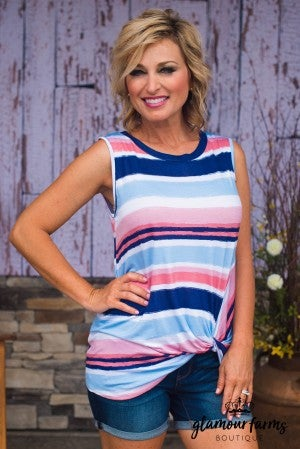 **Daily Deal** Simple Things Stripe Knot Top