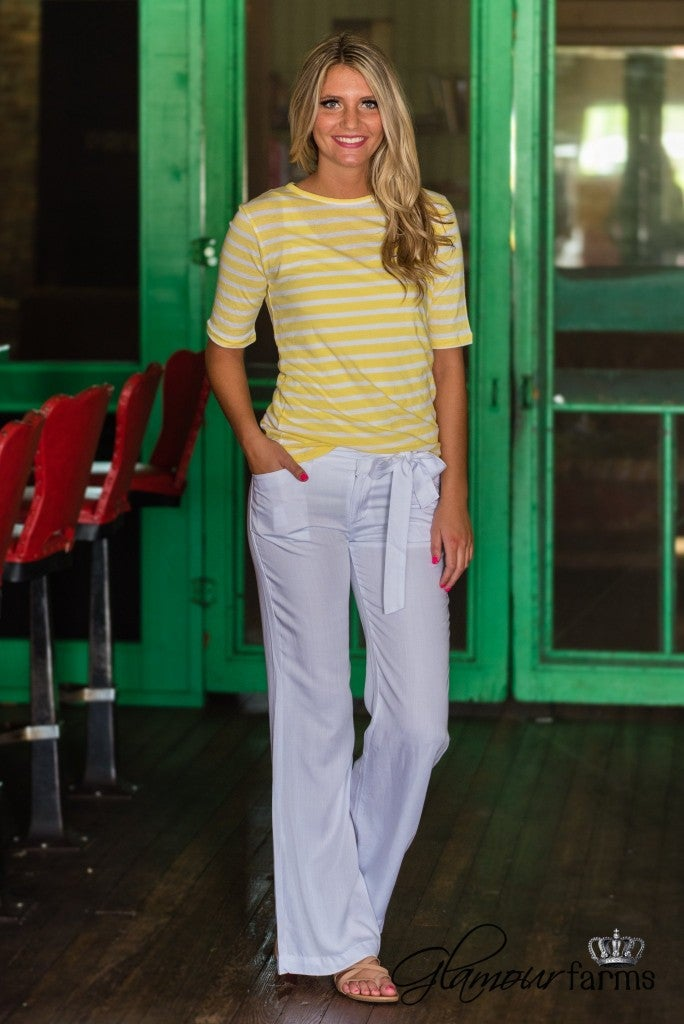 Taylor Relaxed Fit Pant - White