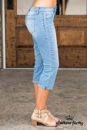 Olivia Roll Cuff Ankle Jean