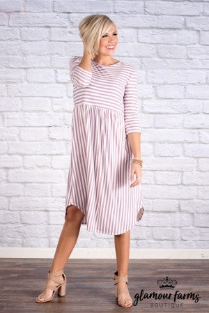 Clara Stripe Midi Dress